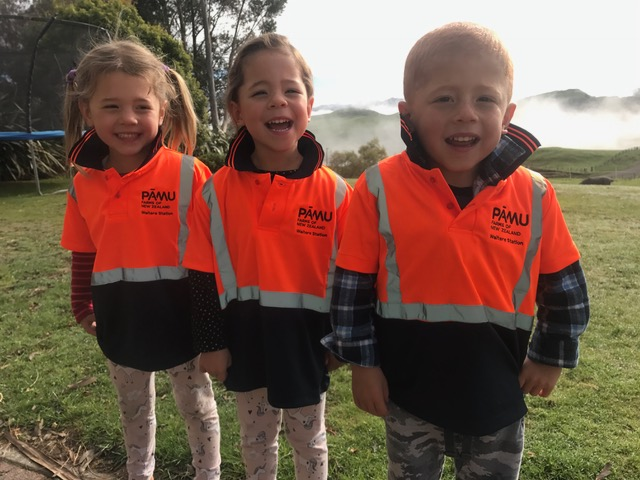 Triplets help spread child safety message