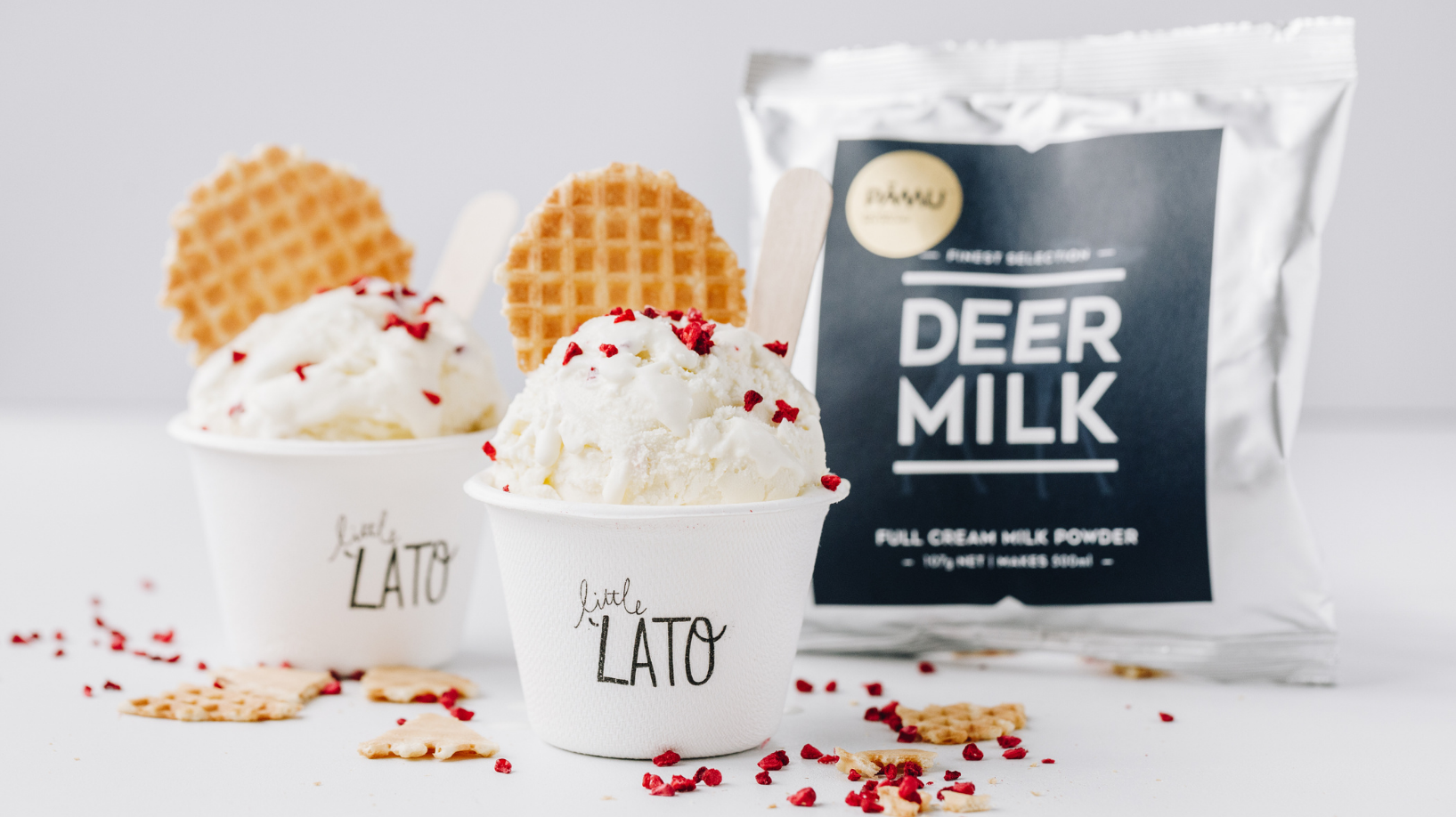 Little Lato and Pāmu team up with a Deerlicious Gelato for Christmas